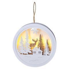 Vánoční LED dekorace Medailon 1 WW