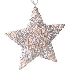 Ratanová vánoční LED hvězda s časovačem WW