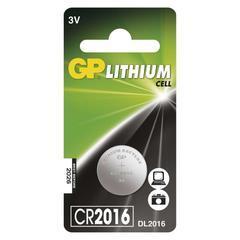 Lithiová knoflíková baterie GP CR2016 3V 1ks