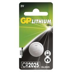 Lithiová knoflíková baterie GP CR2025 3V 1ks