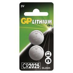 Lithiová knoflíková baterie GP CR2025 3V 2ks
