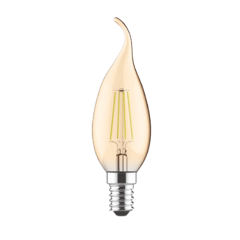 LED žárovka filament STEP Candle Tip E14 5W