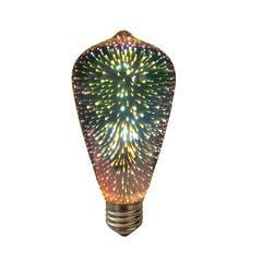 LED žárovka 3D EDISON E27 4W - stmívatelná