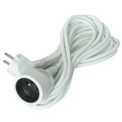 Prodlužovací kabel - 1 zásuvka, bílá - 5m