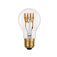 LED žárovka Filament spiral E27 6W