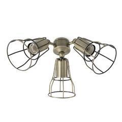 Světelný set pro ventilátor Aloha/Yakarta - mosaz