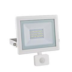 LED reflektor 20W s pohybovým čidlem - bílý
