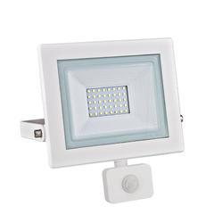 LED reflektor 30W s pohybovým čidlem - bílý