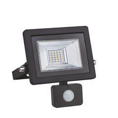 LED reflektor 10W s pohybovým čidlem - černý