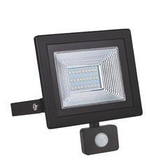 LED reflektor 20W s pohybovým čidlem - černý
