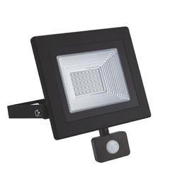 LED reflektor 30W s pohybovým čidlem - černý