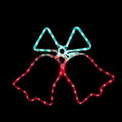 Vánoční venkovní LED dekorace Zvonky - 1