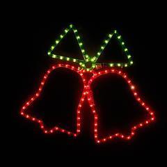 Vánoční venkovní LED dekorace Zvonky - 2