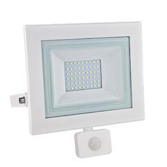 LED reflektor 50W s pohybovým čidlem - bílý