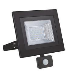 LED reflektor 50W s pohybovým čidlem - černý