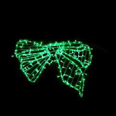 Vánoční venkovní LED dekorace Mašle - zelená