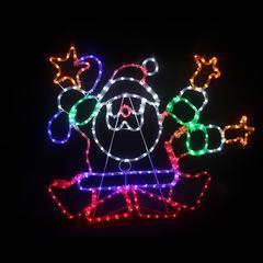 Vánoční venkovní LED dekorace Santa - 2