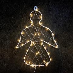 Vánoční venkovní LED dekorace Anděl