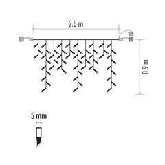 LED rampouchy Standard Jantar pulzující 2,5m IP44