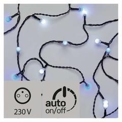 LED světelný řetěz modrá/bílá IP44 4m časovač