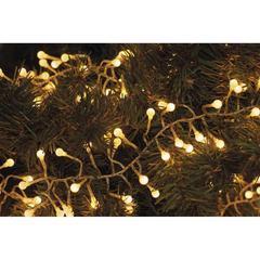 LED vánoční řetěz – ježek WW, IP44, 2,4m časovač