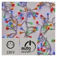 LED vánoční řetěz – ježek barev. IP44 2,4m časovač