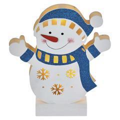 Vánoční dekorativní LED sněhulák s časovačem - 1
