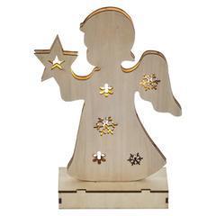 Vánoční dekorativní LED andílek s časovačem