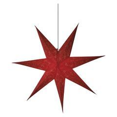 Vánoční papírová Hvězda 75cm - červená