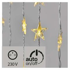 LED vánoční závěs – hvězdy, 120×90cm, IP44 časovač