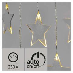 LED vánoční závěs – hvězdy, 84x45 cm IP44 časovač