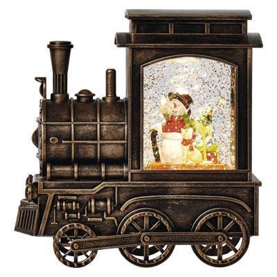 Vánoční LED mašinka, 17x16cm, 3x AA, časovač - 1