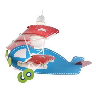 Dětské závěsné svítidlo Baby Plane - modrá - 1