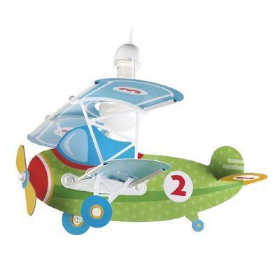 Dětské závěsné svítidlo Baby Plane - zelená - 1