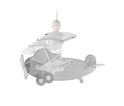 Dětské závěsné svítidlo Star Plane, šedá - 1