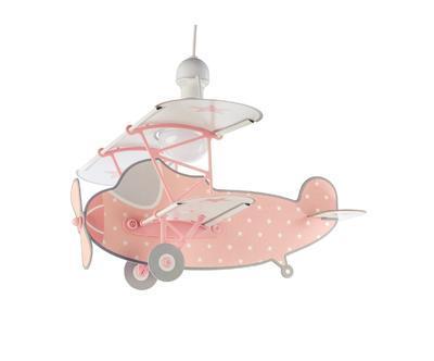 Dětské závěsné svítidlo Star Plane, růžová - 1