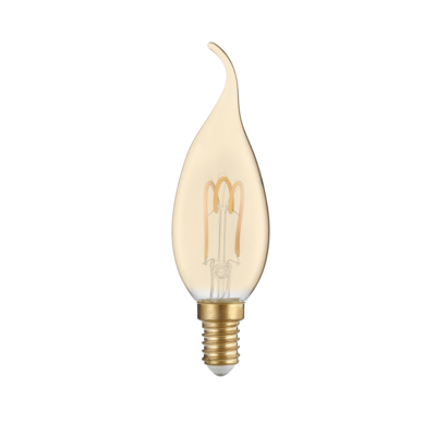 LED žárovka Filament spiral Candle tip E14 3W Jan.