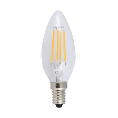 LED žárovka Filament Candle E14 4W, Studená bílá