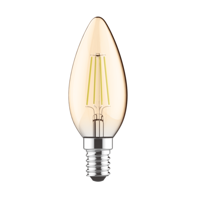 LED žárovka filament STEP Candle E14 5W