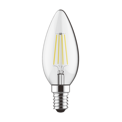 LED žárovka filament STEP Candle E14 5W