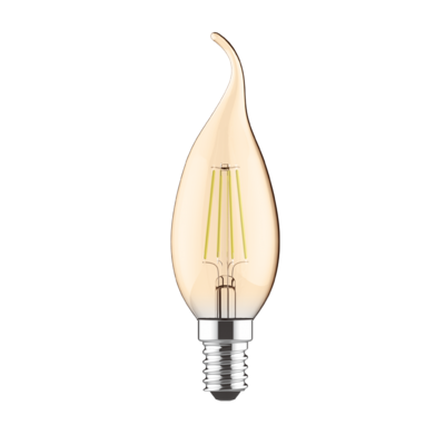 LED žárovka filament STEP Candle Tip E14 5W