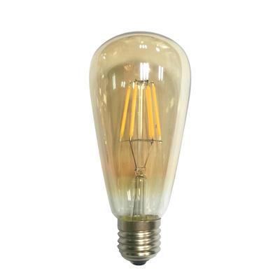LED žárovka Filament Edison E27 6W, Jantar - 1