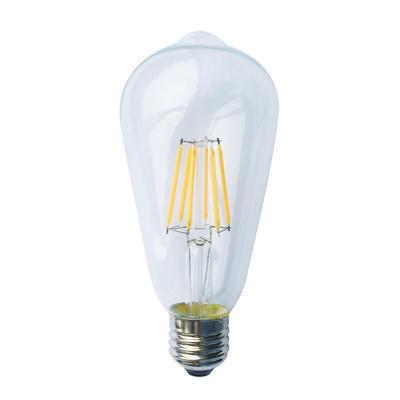 LED žárovka Filament Edison E27 6W Stmívatelná, Denní bílá