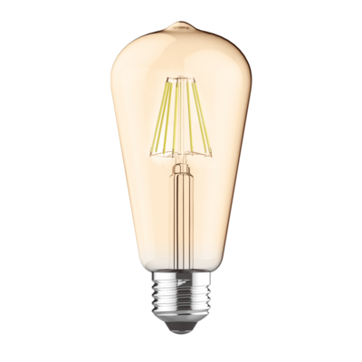 LED žárovka filament STEP Edison E27 8W