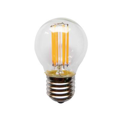 LED žárovka Filament Ball E27 4W, Teplá bílá