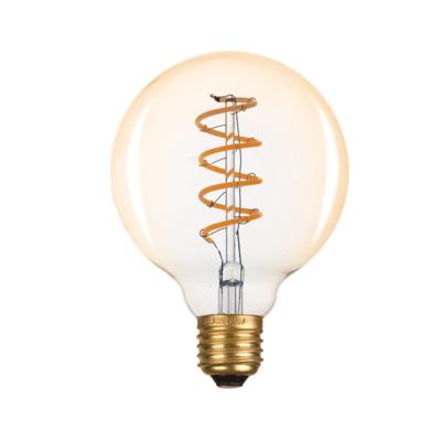 LED žárovka Filament spiral E27 O95 6W, Jantar - 1