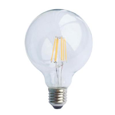 LED žárovka Filament Globe E27 O95 6W Stmívatelná, Denní bílá