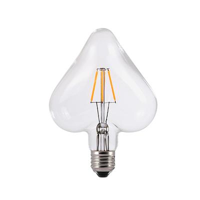 LED žárovka Filament Heart E27 6W, čirá - 1