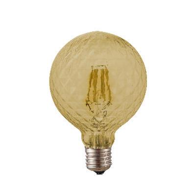 LED žárovka Filament Poc O125 E27 6W, Jantar - 1