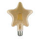 LED žárovka Filament Star E27 6W, jantar - 1/2